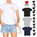 꼼데가르송 여성 골드 하트 반팔 티셔츠