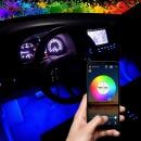 블루투스 RGB LED바 풋등 키트 세트/자동차량무드등