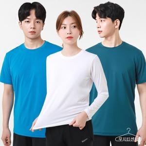 반팔 긴팔 남여 라운드 스판덱스 쿨론 기능성 티셔츠