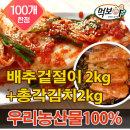 빛 국산 겉절이2kg+총각김치2kg 열무/겉절이/김치