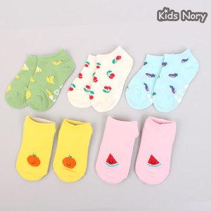 쥬시커즈 발목양말 5족/어린이/여름/유아/아동/아기