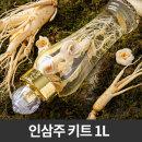 인삼주 DIY 키트 1L(수삼80g+인삼꽃5개+유리병) 담금