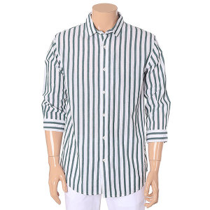 남성 스트라이프 7부 셔츠 10220-020-412-30