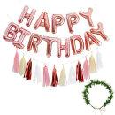 생일파티세트HC_쁘띠(로즈골드) / 가랜드 태슬가랜드