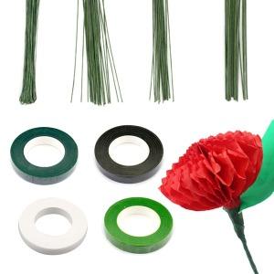 꽃철사 조화테이프 꽃테이프 철사 조화 꽃 만들기