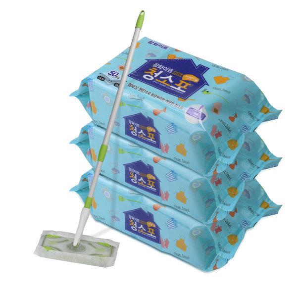 향균 물걸레 습식 청소포 250매 50매x5팩 표준형