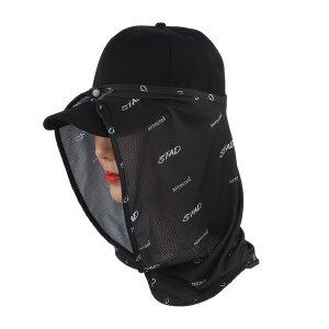 스타드 부착형 얼굴 햇빛가리개 모자 자외선차단 선캡