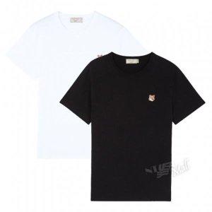 메종키츠네 폭스헤드 패치 티셔츠 AM00103KJ0008
