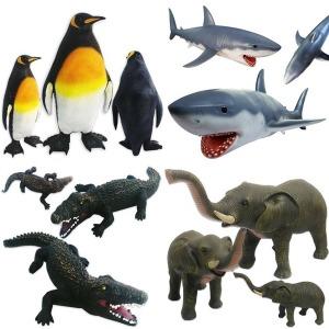 안전한 소프트 동물 대형 인형 4종 장난감 펭귄 상어