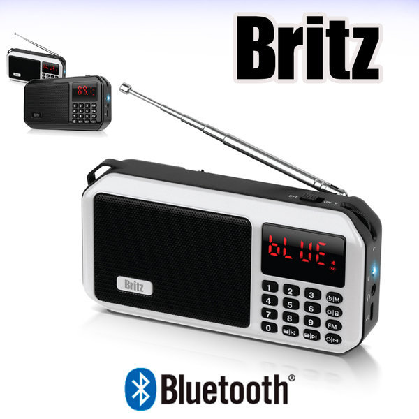 BZ-LV980 / 휴대용 블루투스 FM라디오 후레쉬 / 화이트