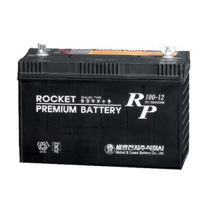 RP100-12 (12V-100Ah) 산업용 배터리 납축전지