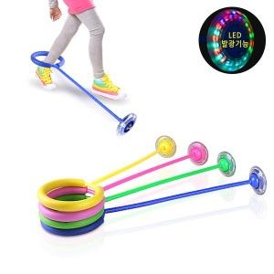 LED 발목줄넘기 직선형 발줄넘기 리듬스텝 유산소운동