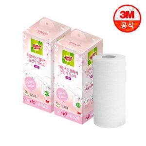 표준형 더블액션 점착식 정전기 청소포 60(핑크)+20매