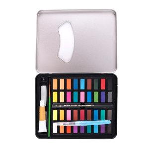 코스타 36색 수채화 고체물감 워터브러쉬 포함 셋트