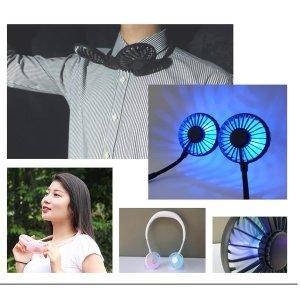 넥밴드 아로마  LED X-8 선풍기 목선풍기 휴대용선풍기