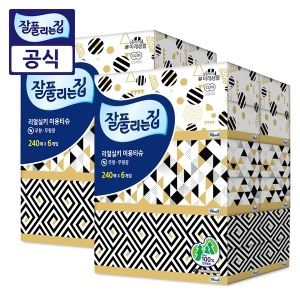잘풀리는집 리얼실키 미용티슈 240매12개/각티슈/휴지