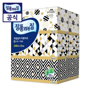 잘풀리는집 리얼실키 미용티슈 240매 6개/각티슈/휴지