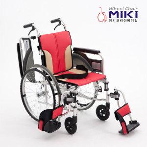 미키코리아 알루미늄 휠체어 MIKI-Q (뒷바퀴착탈가능)