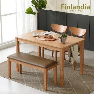 핀란디아 콜린 4인식탁세트(의자2벤치1) Best인기상품