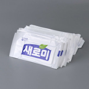 새로미 업소용 물티슈 대용량 400장 개별포장
