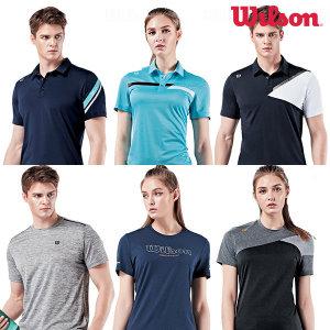 윌슨 기능성 반팔티셔츠 쿨티셔츠 남녀 스판티셔츠