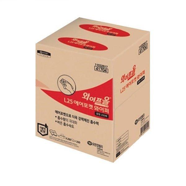 유한킴벌리 와이프올 L25 와이퍼 중형 200매 41704