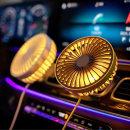 차량용 송풍구 선풍기 USB 형식 4가지컬러 / LED 조명