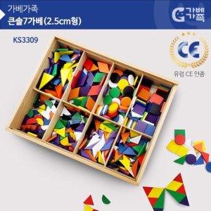 가베가족 큰솔 7가베 2.5CM형 KS3309 가베놀이 원목가