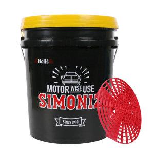 시모나이즈 대용량 세차버킷 20L 뚜껑 그릿가드포함