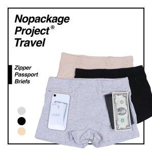 NPT 여행용 지퍼 여권 팬티 주머니 소매치기방지 속옷