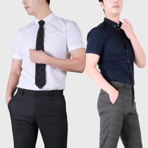 반팔 와이셔츠/무료배송/슬림형 표준형/드레스셔츠