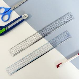 비팬시 15cm/30cm 클리어커팅 방안자 제도용 사무용