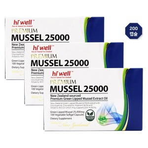 하이웰 뉴질랜드산 초록홍합오일 25000 200캡슐 3개