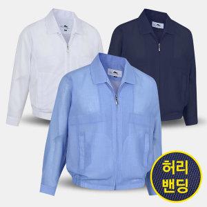 남성 여름 무지 밴딩 신사 점퍼 GMSBMJ 중년 장년