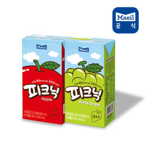 피크닉 사과+청포도 200ml 48팩/주스/과채/과즙/음료