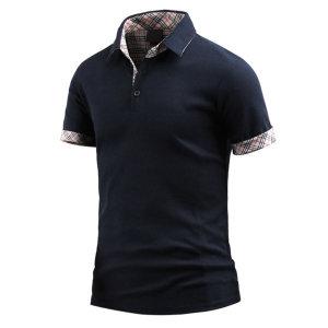 남성 반팔 카라티 히딩체크 카라 티셔츠 _ts3380