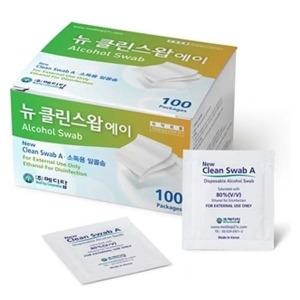 메디탑 뉴클린스왑 에이 1매포장 100매/소독솜/알콜솜