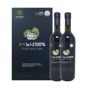 퓨어노니100%(750mlX2병)원액노니주스 부모님선물