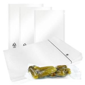 진공포장지 업소용 진공팩(18x28x100매)1개 압축 비닐