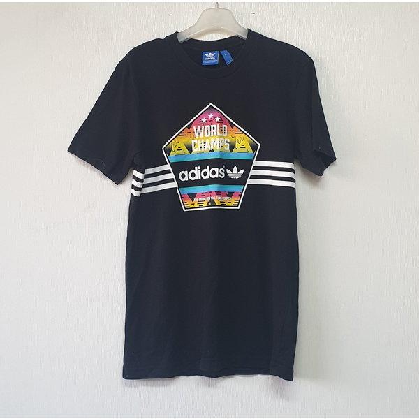 아디다스 면 라운드 반팔 티셔츠 95/여/A/명품슈슈