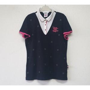 먼싱웨어 면스판 카라넥 티셔츠 105/여/A/명품슈슈