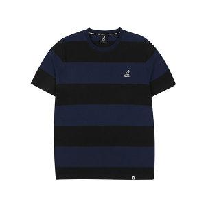 럭비 스트라이프 티셔츠 2571 블랙