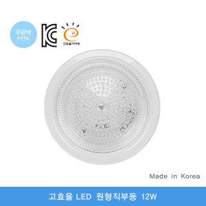남영 LED 고효율 원형직부등 12W / 긴수명