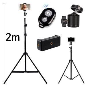 스마트폰 셀카봉 핸드폰 카메라 삼각대 2m10