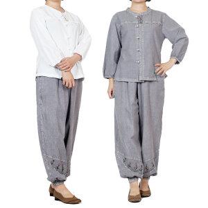 여름 여성 개량한복 생활한복 여자 법복 절복 세트
