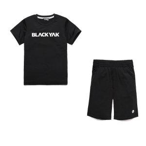 솔리드형 반팔 티셔츠 5부 바지 세트 (BKO룩스세트)