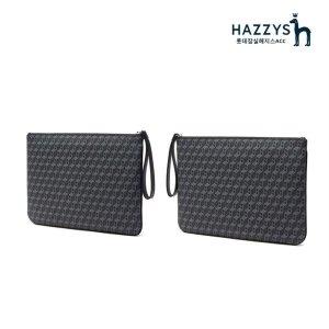 (선물포장)HJHO0E861BK_블랙 패턴포인트 라지 클러치백