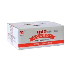 태원 테이준 머스타드소스 1박스(12g x 250개)