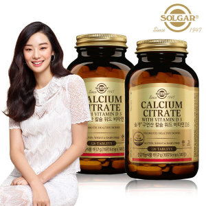 구연산 칼슘 위드 비타민 D3 (120정) x 2병