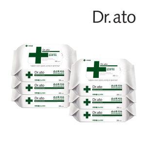닥터아토 손소독티슈 20매 x6팩 손입 콧물 제균 항균
